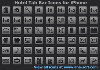 Hotel Tab Bar Icons for iPhone pour mac