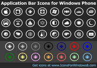 Application Bar Icons for Windows Phone pour mac