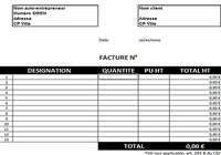 T l charger comptabilisation de facture d achat excel for Modele facture garage automobile excel